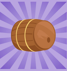 Wooden barrel of alcohol drink vector