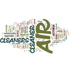 Your health and air cleaners text background word vector