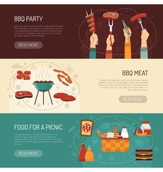 Barbecue Party Horizontal Banners vector image