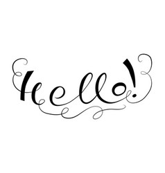 Lettering hallo vector