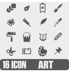 Icon Art On white background vector image