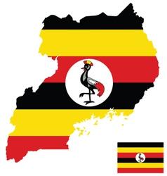 Uganda flag vector