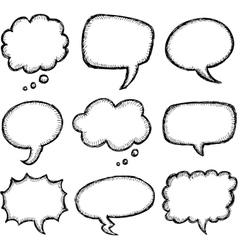 Hand drawn comic speech bubble vector
