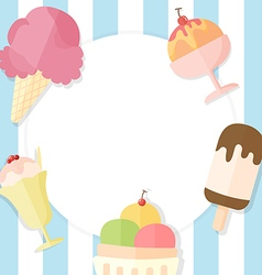Ice cream summer background vector
