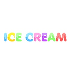 Text design ice cream isolate stock vector