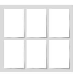 6 pieces blank A4 sheet of white paper with the vector image vector image