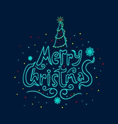 Greeting card with text merry christmas vector
