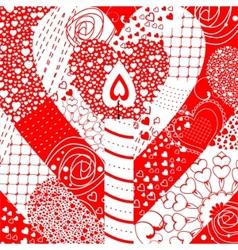 geometric hearts vector image