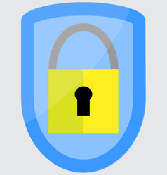 Protection padlock shield vector