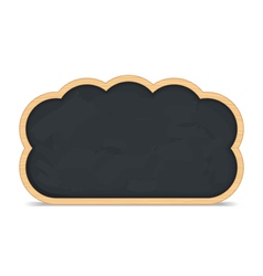 Blackboard cloud icon vector