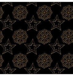 Abstract background christmas snowflakes and star vector