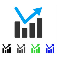 bar chart trend flat icon vector image
