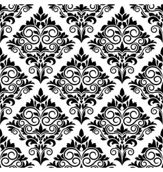 Black and white arabesque seamless pattern design vector