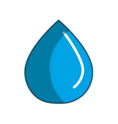 blue line drop of water icon vector image