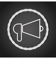 Bullhorn megaphone line icon vector