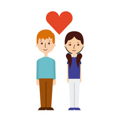 Couple in love design vector