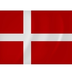 Denmark waving flag vector