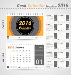 Desk calendar 2016 modern circle design cover vector