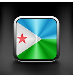 Djibouti icon flag national travel icon country vector