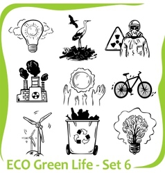 ECO - Green Life - set vector image vector image