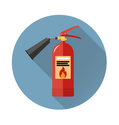 fire extinguisher icon in flat style vector image vector image