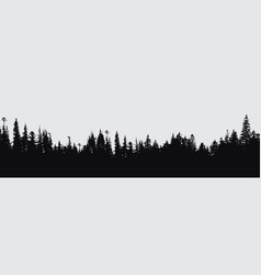 forest silhouette background vector image