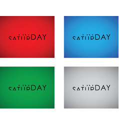 friday to saturday turning text set vector image