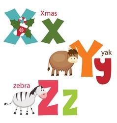 Funny alphabet 9 vector image