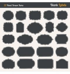 Handrawn blank labels vector