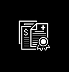 health insurance policy icon flat design vector image