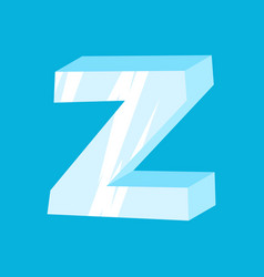 letter z ice font icicles alphabet freeze vector image vector image