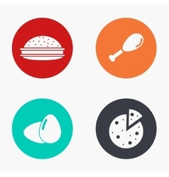 modern food colorful icons set vector image vector image
