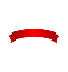red elegant satin ribbon isolated icon vector image vector image