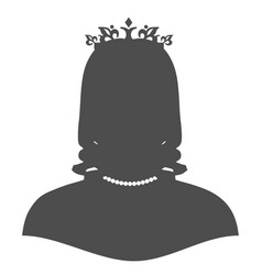 Silhouette of a princess in a frame vector