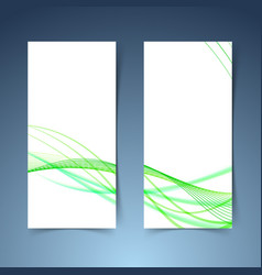 Speed stream line green banner set vector