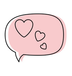 thinking love speech bubble vector image