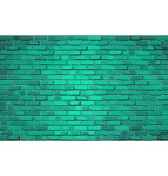 Turquoise brick wal vector image