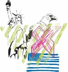 usa abstract design vector image