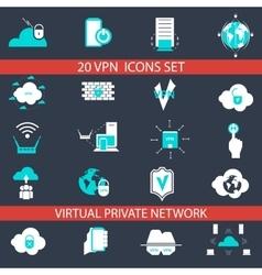 Vpn icons set vector