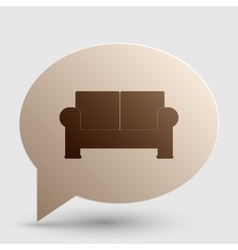 Sofa sign  brown gradient icon on vector