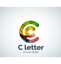 C letter concept logo template vector