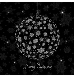 Christmas ball silhouette vector