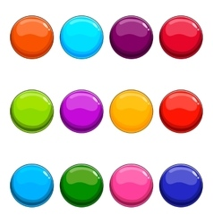 Big set of shiny button vector