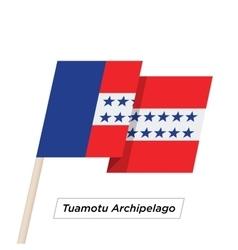 Tuamotu archipelago ribbon waving flag isolated on vector