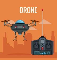 Orange scene city landscape set remote control vector