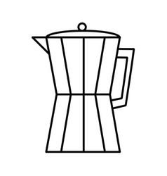 Italian coffee maker icon vector