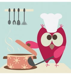 owl and bowl vector image