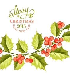 Christmas mistletoe brunch vector