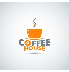Coffee cup label menu background vector