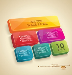 Panel 3d glass vector image